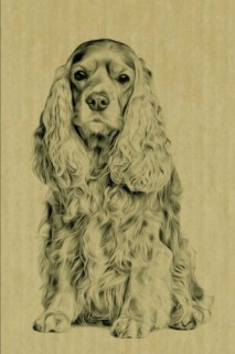 Cocker Spaniel: Artified Pets Dog Journal/Notebook/Diary (Artified Pets Inked Dogs) (Volume 26)