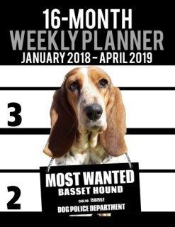 "2018-2019 Weekly Planner - Most Wanted Basset Hound: Daily Diary Monthly Yearly Calendar Large 8.5"" x 11"" Schedule Journal Organizer (Dog Planners 2018-2019) (Volume 49)"