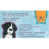 Paws & Claws Pet Grooming Belfast Maine Logo