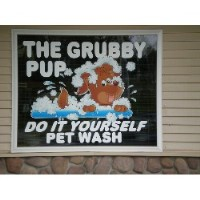 The Grubby Pup Alanson Michigan Logo