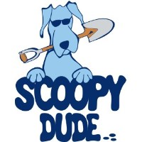 Scoopy Dude, dog pooper scooper service Loomis California Logo