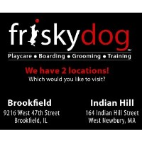 Frisky Dog Daycare Brookfield Illinois Logo