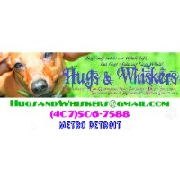 Hugs & Whiskers Exclusive Pet Photography & Grooming Clinton Township Michigan Logo