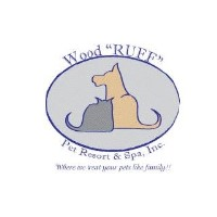 "Wood""RUFF"" Pet Resort & Spa Greer South Carolina Logo"
