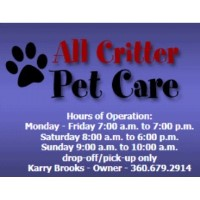 All Critter Pet Care Oak Harbor Washington Logo