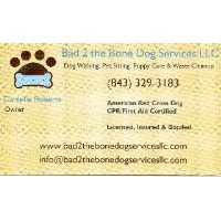 Bad 2 the Bone Dog Services LLC Mount Pleasant South Carolina Logo