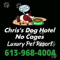 Chris's Dog Hotel No Cages Luxury Pet Resort Belleville Ontario Logo