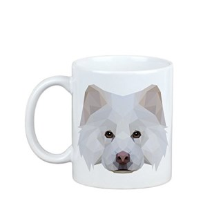 Finnish Lapphund, mug with a dog, cup, ceramic, new geometric collection
