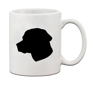 Labrador Retriever Silluette Ceramic Coffee Tea Mug Cup 11 Oz