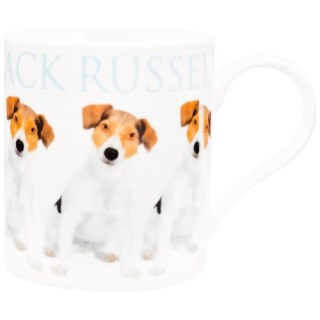 Animal World - Jack Russell Repeat Body Coffee Mug - White