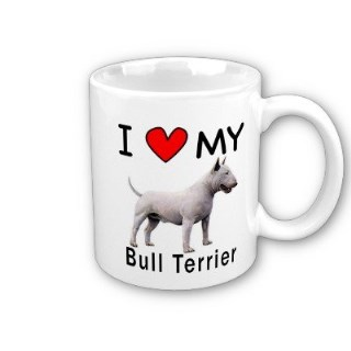 I Love My Bull Terrier Coffee Mug