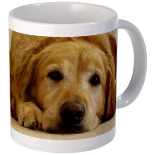CafePress Golden Retriever Mug: Need Morning - Standard Multi-color