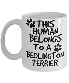 Bedlington Terrier Mug - White 11oz Ceramic Tea Coffee Cup - Perfect For Travel And Gifts