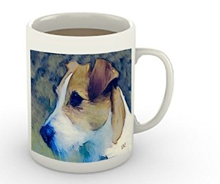 Parsons Russell Terrier 'Parson Jack'- 15 Ounce Ceramic COffee/Latte Mug By Doggylips