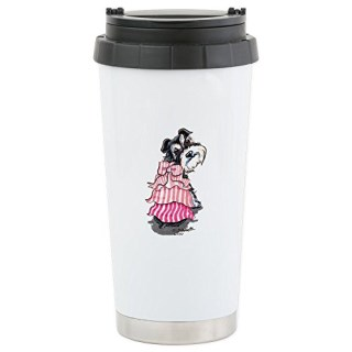 CafePress - Girly Schnauzer - Stainless Steel Travel Mug, Insulated 16 oz. Coffee Tumbler