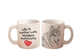 Alaskan Malamute, mug with a dog, high quality, cup, ceramic, new collection