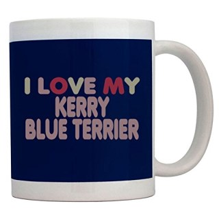 Teeburon I LOVE MY Kerry Blue Terrier Mug
