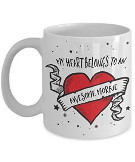 My Heart Belongs to an Awesome Morkie Mug - Dog Lover Gifts and Accessories Coffee Cup