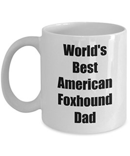 American Foxhound Mug - World's Best Dad Coffee Cup – Inexpensive Gift Ideas