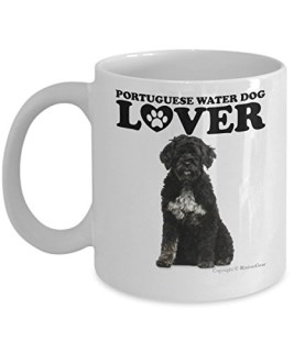 Portuguese Water Dog Dog Lover Coffee Mug / Tea Cup. Makes A Fun Gift For The Pet Dog Owner, Dog Mom or Dad. The Perfect Present For Your Best Friend, Girlfriend, Boyfriend or Family.