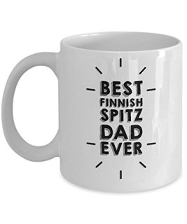 Funny Finnish Spitz Dad 11oz Coffee Mug - Best Finnish Spitz Dad Ever. - Best Inspirational Gifts For Dog Lover