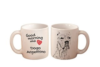 Dogo Argentino, mug with a dog,, cup, ceramic, new collection