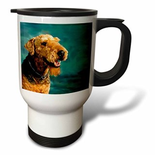3dRose Airedale Terrier Travel Mug, 14-Ounce, Stainless Steel