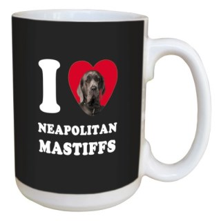 Tree Free Greetings LM45090 I Heart Neapolitan Mastiffs Ceramic Mug with Full-Sized Handle, 15-Ounce