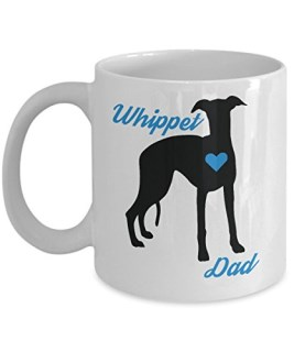 Whippet Mug - Whippet Dad - Cute Novelty Coffee Cup For Dog Lovers - Perfect Father's Day Gift For Men - Pet Owners