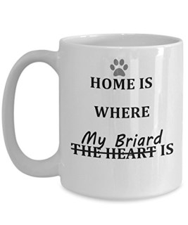 Cute Briard Coffee Mug, Great Gift for Briard Mom or Dad, White Ceramic, Double-Sided Print