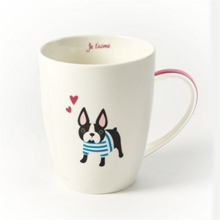 Kennel Club Coffee Mug in Gift Box by Stacy Claire Boyd, Puppy Love (Boston Terrier)