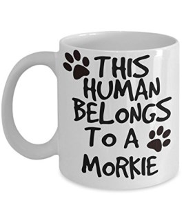 Morkie Mug - White 11oz Ceramic Tea Coffee Cup - Perfect For Travel And Gifts
