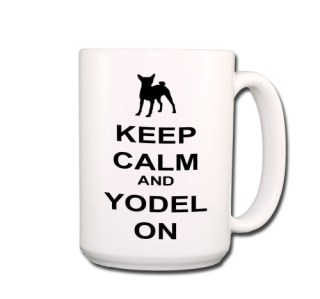 Basenji Keep Calm and Yodel On Coffee Tea Mug 15 oz