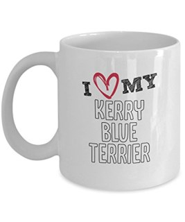 KERRY BLUE TERRIER MUG – I LOVE MY KERRY BLUE TERRIER gifts – KERRY BLUE TERRIER COFFEE MUG