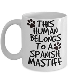 Spanish Mastiff Mug - White 11oz Ceramic Tea Coffee Cup - Perfect For Travel And Gifts