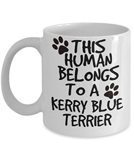 Kerry Blue Terrier Mug - White 11oz Ceramic Tea Coffee Cup - Perfect For Travel And Gifts