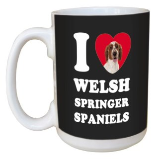 Tree Free Greetings LM45138 I Heart Welsh Springer Spaniels Ceramic Mug with Full-Sized Handle, 15-Ounce