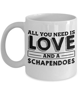 Funny Schapendoes 11oz Coffee Mug - Love Dog - Unique Gift For Men and Women Pet Lovers