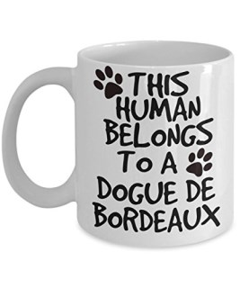 Dogue de Bordeaux Mug - White 11oz Ceramic Tea Coffee Cup - Perfect For Travel And Gifts