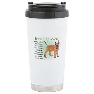 CafePress - Belgian Malinois Stainless Steel Travel Mug - Stainless Steel Travel Mug, Insulated 16 oz. Coffee Tumbler