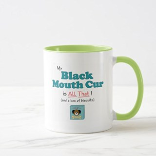 Zazzle My Black Mouth Cur Is All That! Mug, Lime Combo Mug 11 oz