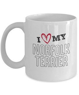 NORFOLK TERRIER MUG – I LOVE MY NORFOLK TERRIER gifts – NORFOLK TERRIER COFFEE MUG
