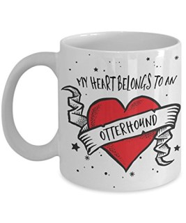 My Heart Belongs to a Otterhound Mug - Dog Lover Gifts and Accessories Coffee Cup