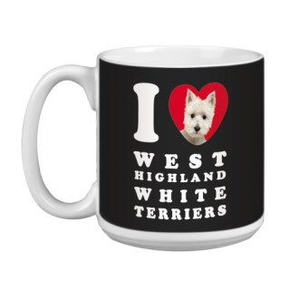 Tree Free Greetings XM29140 I Heart West Highland White Terriers Artful Jumbo Mug, 20-Ounce