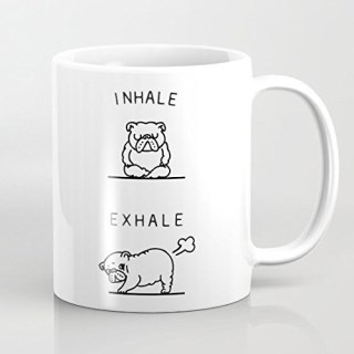 Inhale Exhale English Bulldog Coffee Mug 11 Oz