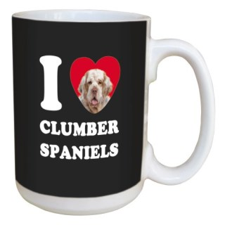 Tree Free Greetings LM45035 I Heart Clumber Spaniels Ceramic Mug with Full-Sized Handle, 15-Ounce