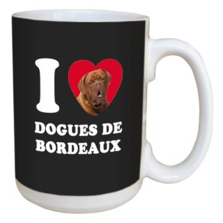Tree Free Greetings LM45043 I Heart Dogues De Bordeaux Ceramic Mug with Full-Sized Handle, 15-Ounce