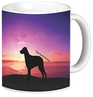 Rikki Knight Curly Coated Retriever Dog at Sunset Photo Quality Ceramic Coffee Mug, 11-Ounce
