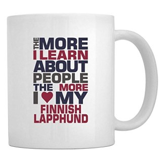 Teeburon THE MORE I LEARN ABOUT PEOPLE THE MORE I LOVE MY Finnish Lapphund Mug