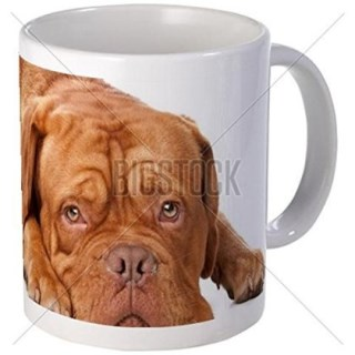 11 ounce Mug - Dogue De Bordeaux (french Mastiff) Mug - S White ""